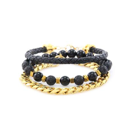 Black + Gold Stack