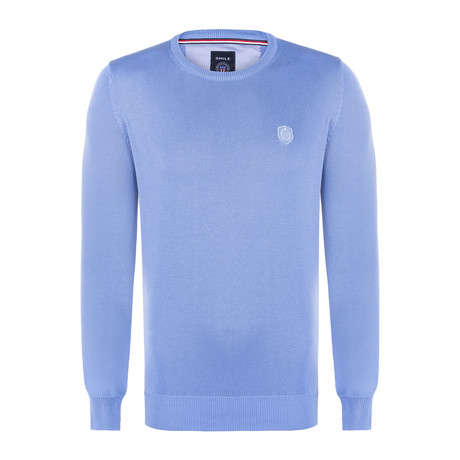 Adams Garment Dyed Round Neck Pullover // Light Blue (S)