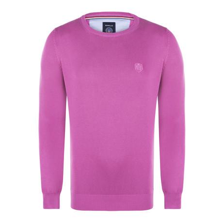 Adams Garment Dyed Round Neck Pullover // Fuchsia (S)