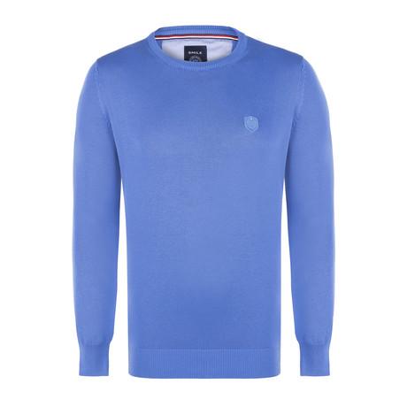 Adams Garment Dyed Round Neck Pullover // Indigo (S)