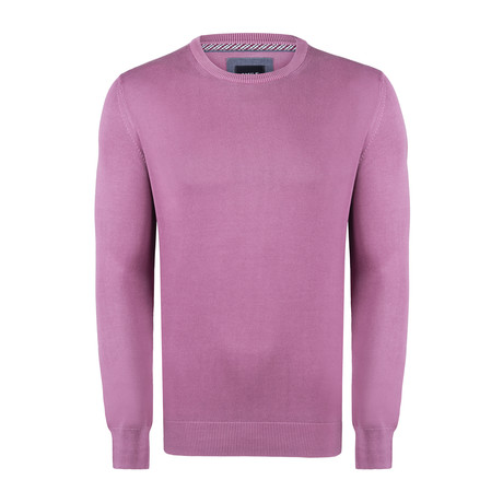 Bredal Garment Dyed Round Neck Pullover // Burnt Rose (S)