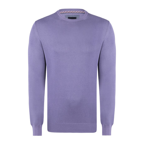 Bredal Garment Dyed Round Neck Pullover // Purple (S)