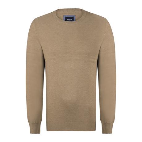 Navassa Ricecorn Round Neck Pullover // Beige (S)