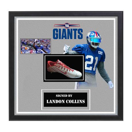 Signed + Framed Cleat // Landon Collins