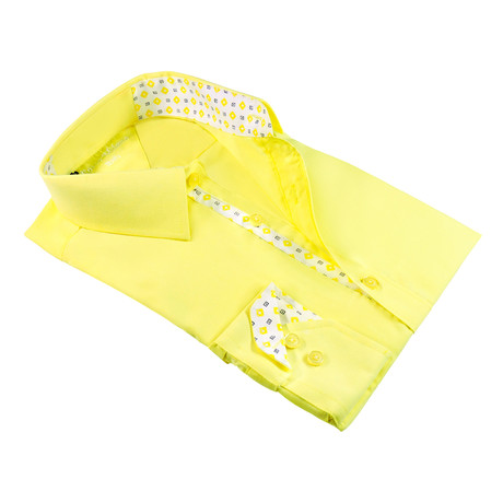 Modern-Fit Dress Shirt // Yellow (S)