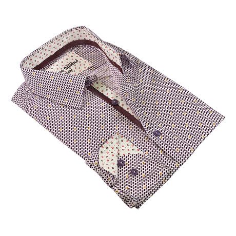 Mix Metro Button-Up Shirt // Purple
