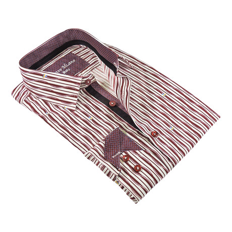 True Modern-Fit Men's Dress Shirt // Burgundy (S)