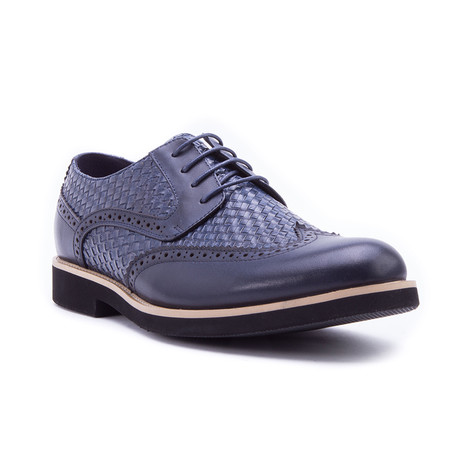 Olive Woven Derby // Navy