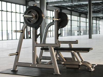 Photo of Maxx Bench The Gravity-Release Free Weight Bench Maxx Olympic Flat Bench + Rack by Touch Of Modern
