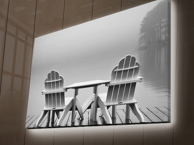 Photo of Wallity Backlit LED Canvas Prints Foggy by Touch Of Modern