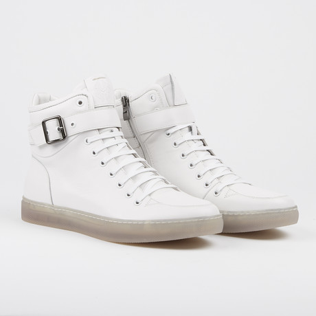 Sullivan High-Top Sneaker // White