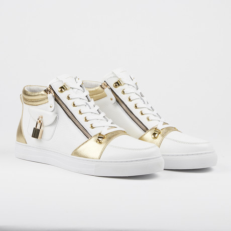 Zappa Mid-Top Sneaker // Gold