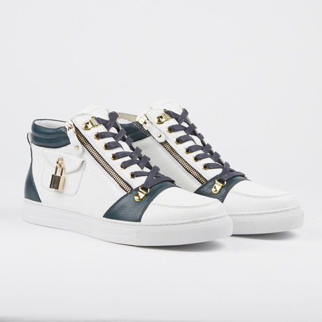 Zappa Mid-Top Sneaker // Navy + White (US: 7)