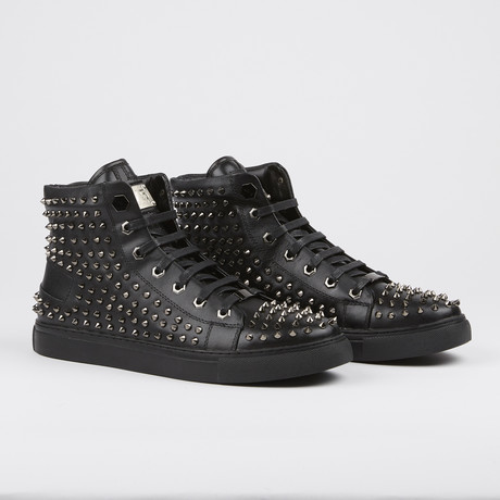 Zircon Studded High-Top Sneaker // Black (US: 7)