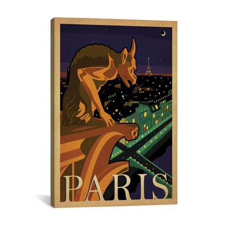 """Paris, France (Notre-Dame de Paris Chimera) (18""""W x 26""""H x 0.75""""D)"""