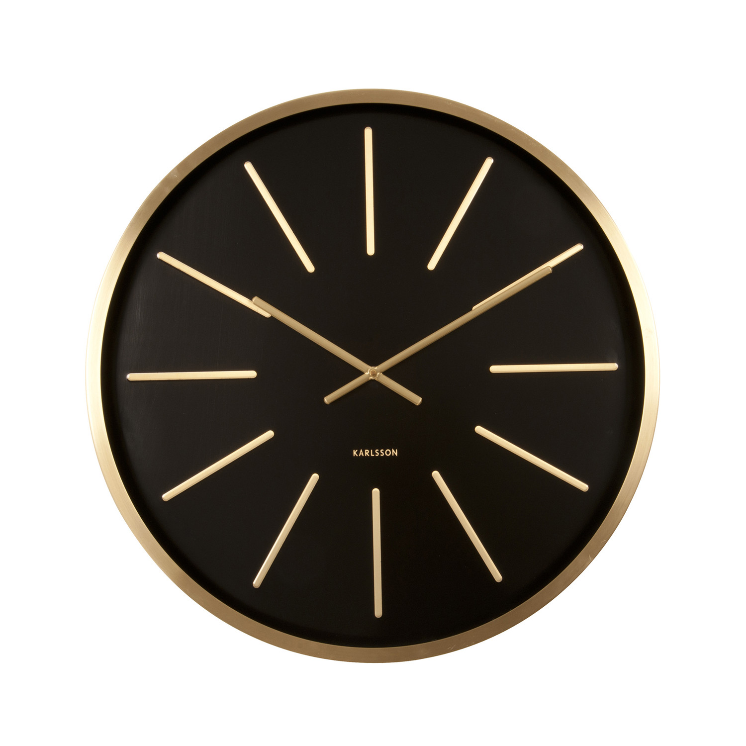Maxiemus wall clock brass white present time for Touch of modern clock