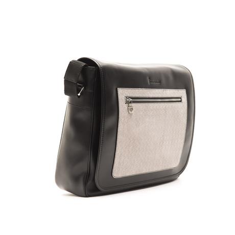 Messenger Nappa // Black + Grey