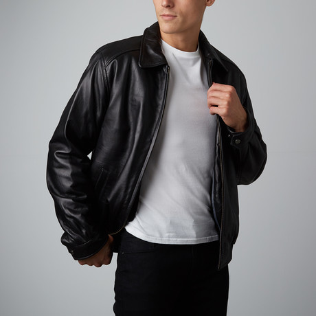 Mason + Cooper // Walden Leather Bomber // Black (S)