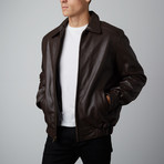 Mason + Cooper // Walden Leather Bomber // Brown (S)