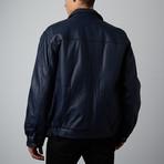 Mason + Cooper // Walden Leather Bomber // Navy (S)