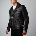 Mason + Cooper // Moto Leather Jacket // Black (S)