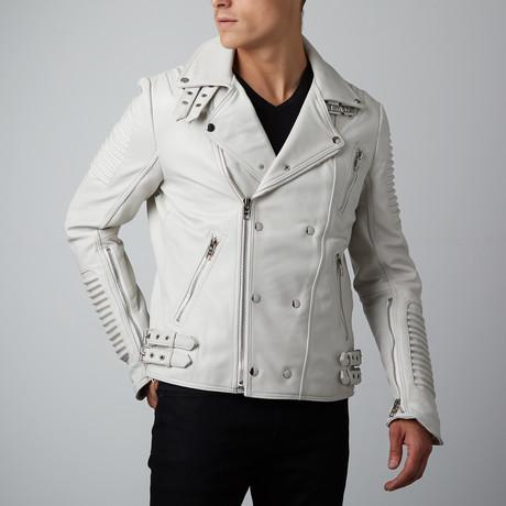 Mason + Cooper // Moto Leather Jacket // White