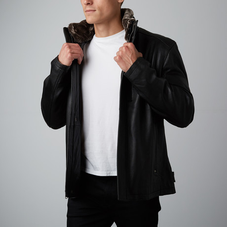 Mason + Cooper // Surge Leather Jacket // Black (S)