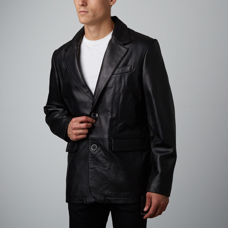 Mason + Cooper // Landon Leather Blazer // Black (S)