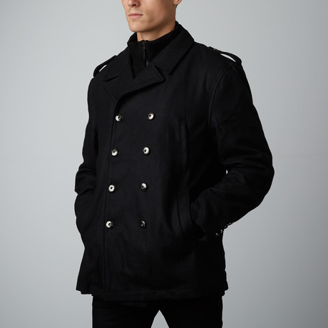 Avery Wool Peacoat // Black (S)