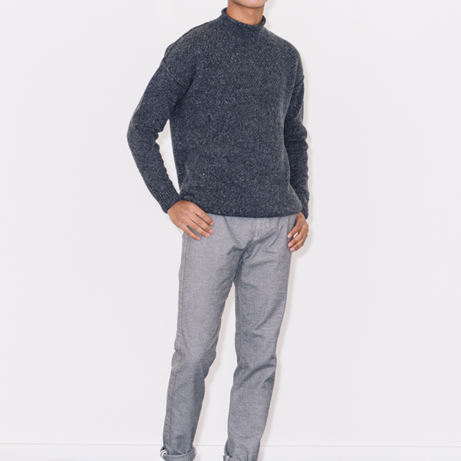 Knitted Sweater Shadow Grey S Six Edges Touch Of