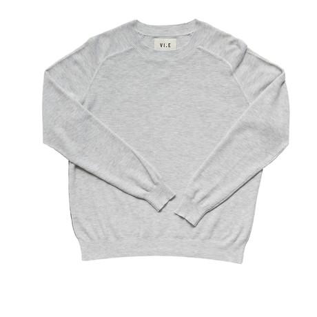 Piquet Knitted Sweater // Silver Cloud