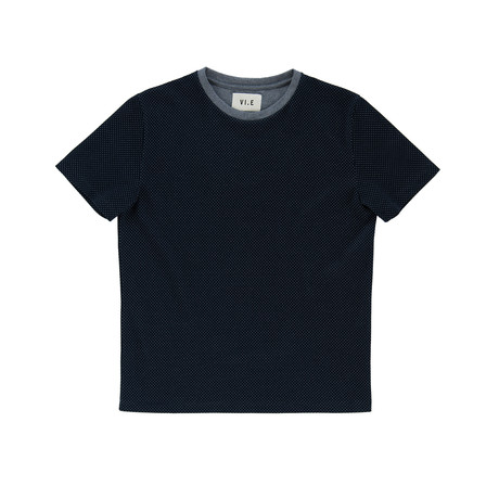 Jaquard T-Shirt // Deep Ocean