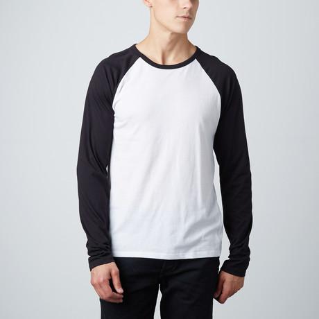Baseball T-Shirt // Black + White (S)