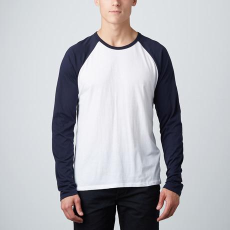 Baseball T-Shirt // Navy + White (S)