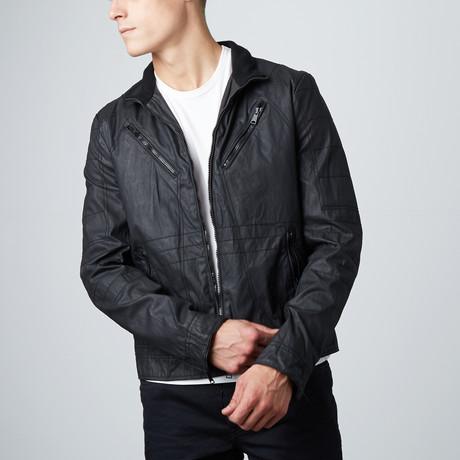 Coated Moto Jacket // Black