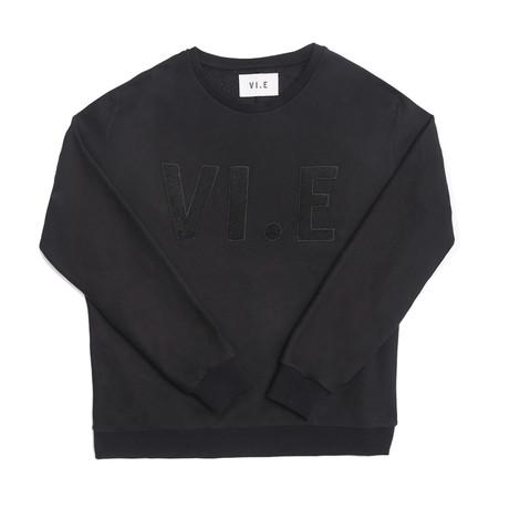 VI. E Sweatshirt Embroidery // Black