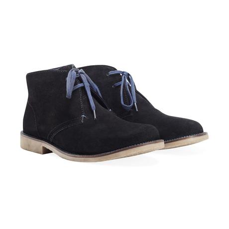 Shoeprimo Desert Boot // Blue Laces // Black (UK: 6)