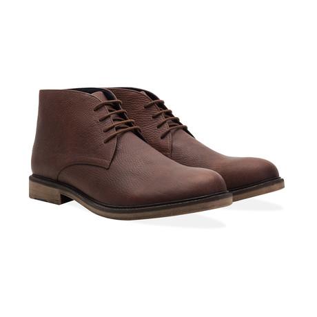 Waxy Chucka Boot // 4 Eyelet // Brown (UK: 6)