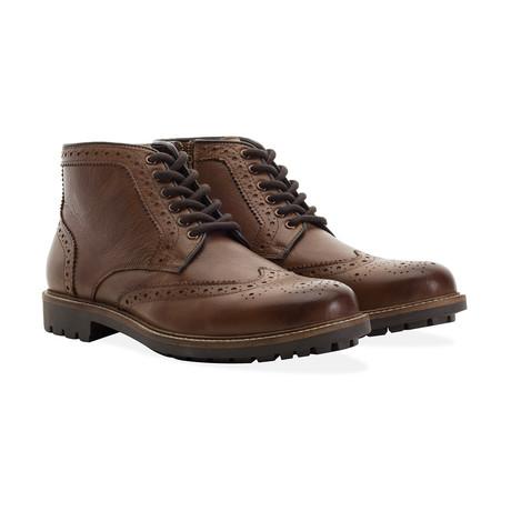 Zip + Lace Brogue Boot // Tan (UK 7)