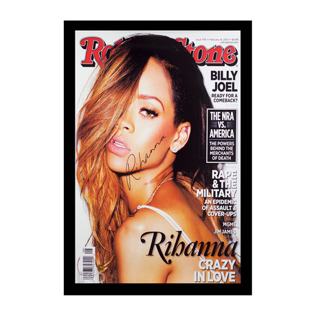 Framed + Signed Poster // Rihanna