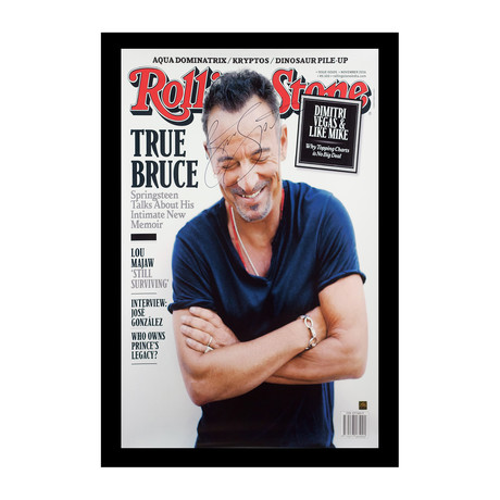Framed Autographed Poster // Bruce Springsteen // Rolling Stone