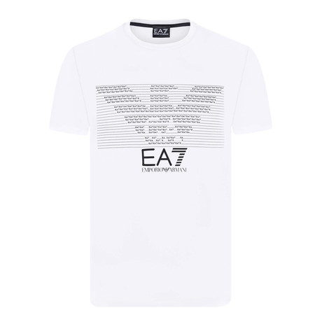 EA7 Linear Eagle Chest Logo Tee // White + Grey