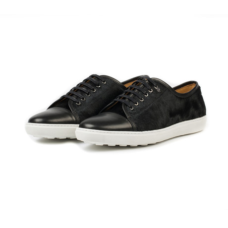 Redchurch Calf Hair Leather Sneaker // Black