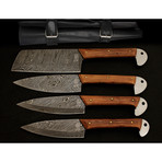Damascus Kitchen Cutlery Set // Set of 4