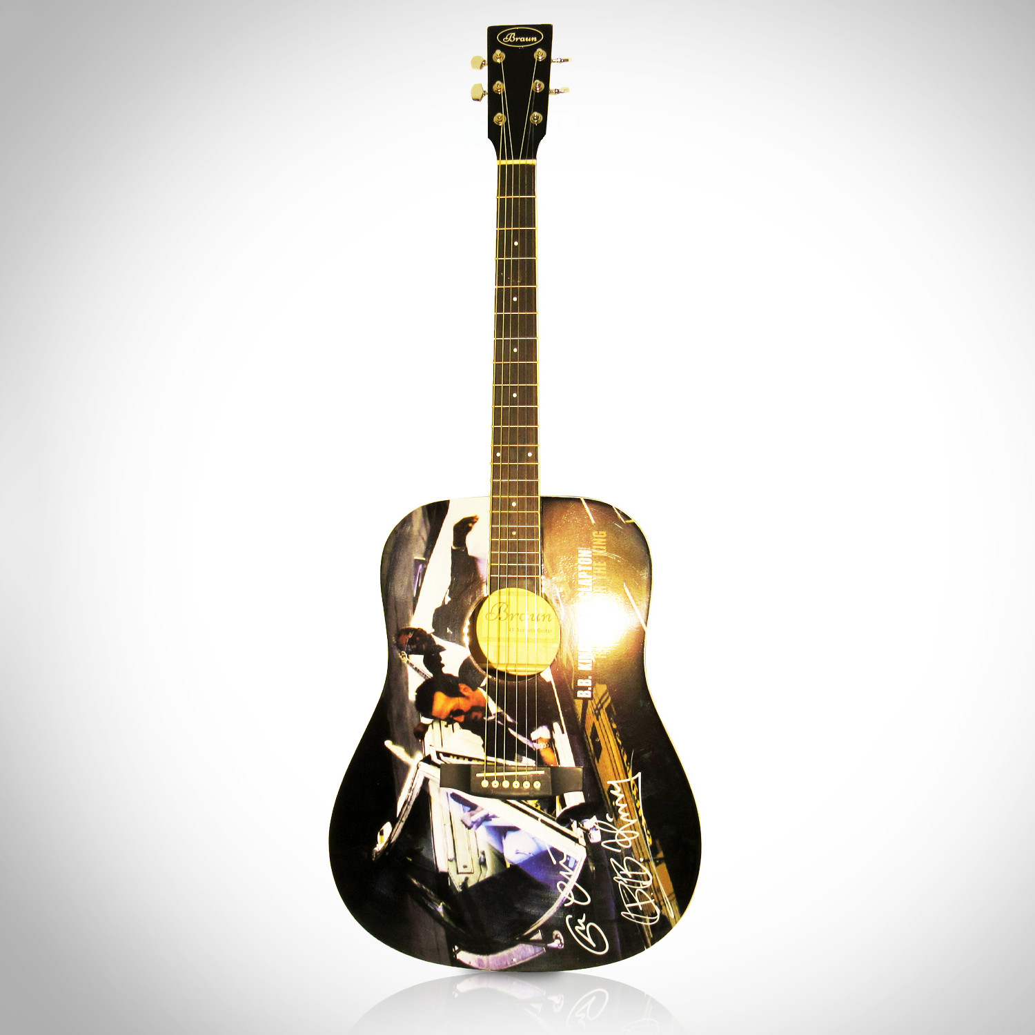 autographed guitar eric clapton bb king rare t touch of modern. Black Bedroom Furniture Sets. Home Design Ideas