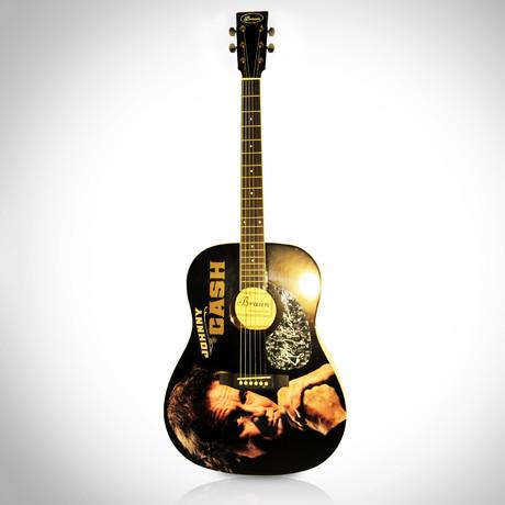 autographed guitar johnny cash rare t touch of modern. Black Bedroom Furniture Sets. Home Design Ideas