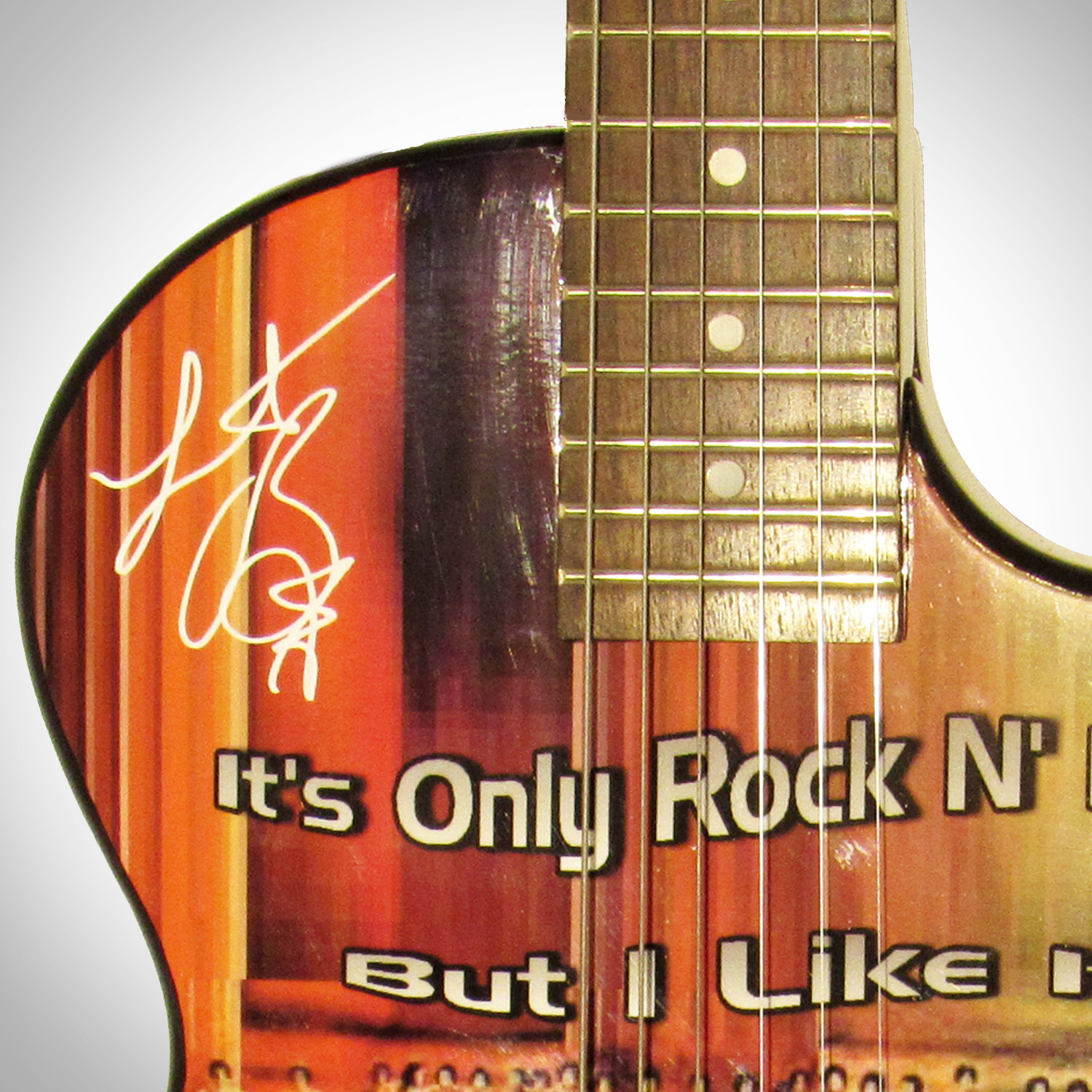 autographed guitar rolling stones rare t touch of modern. Black Bedroom Furniture Sets. Home Design Ideas