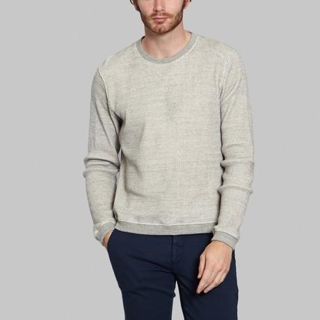 Waffle Round Neck Sweatshirt // Grey (S)