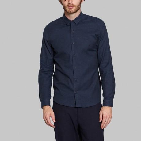 Hidden Button-Up Shirt // Blue (S)