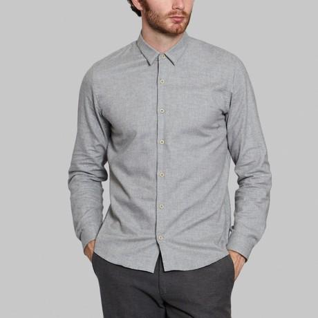 Hidden Button-Up Shirt // Grey (S)